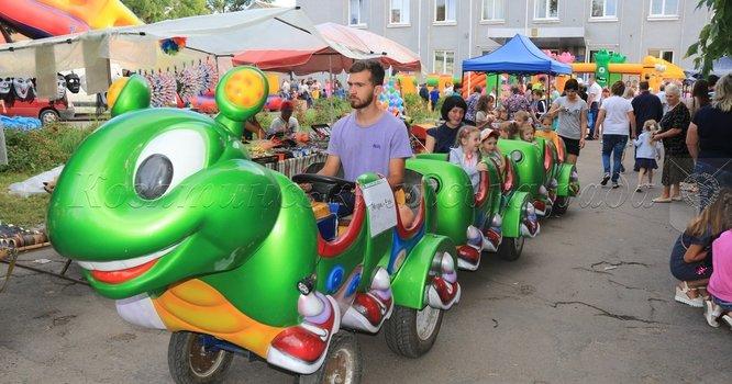 Містечко дитячих розваг на святкуванні 144-ї річниці Дня міста