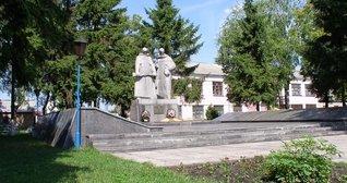 Район ПРБ. Пам'ятник  загиблим воїнам.